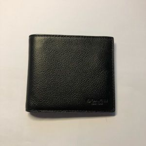 New Coach Black Leather Wallet